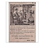Victorian Woolen Yarn Ad Small Poster