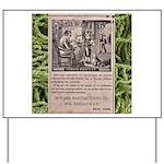 Victorian Woolen Yarn Ad Yard Sign