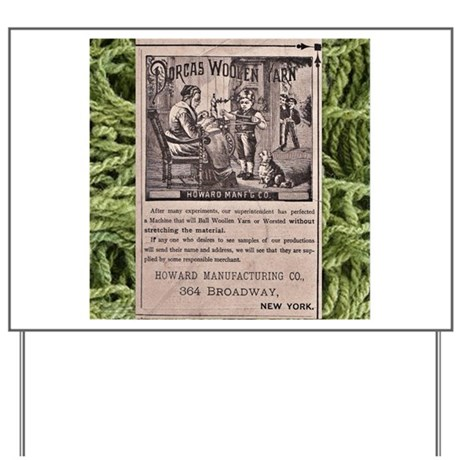 Victorian Woolen Yarn Ad Yard Sign