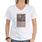Victorian Woolen Yarn Ad Women's V-Neck T-Shirt