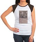 Victorian Woolen Yarn Ad Women's Cap Sleeve T-Shir