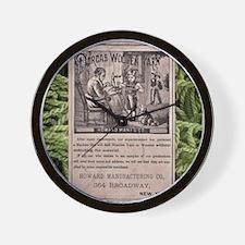 Victorian Woolen Yarn Ad Wall Clock