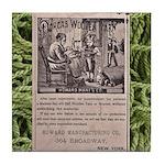 Victorian Woolen Yarn Ad Tile Coaster