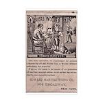 Victorian Woolen Yarn Ad Sticker (Rectangle 50 pk)