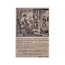 Victorian Woolen Yarn Ad Rectangle Magnet