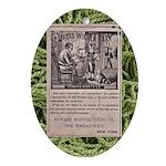 Victorian Woolen Yarn Ad Ornament (Oval)
