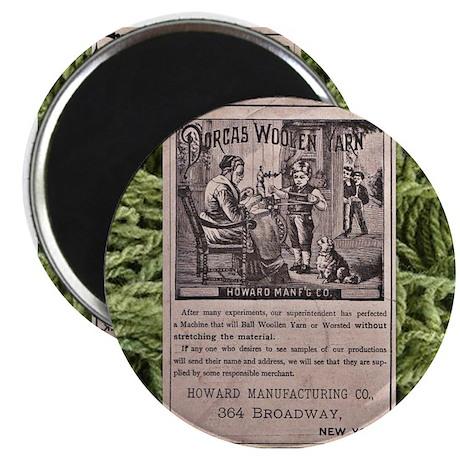 Victorian Woolen Yarn Ad Magnet