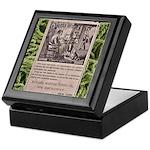 Victorian Woolen Yarn Ad Keepsake Box