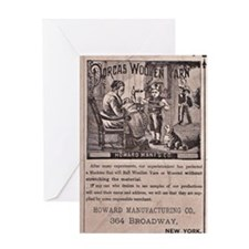 Victorian Woolen Yarn Ad Greeting Card