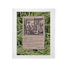 Victorian Woolen Yarn Ad Throw Blanket
