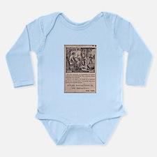 Victorian Woolen Yarn Ad Long Sleeve Infant Bodysu