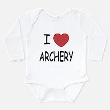 I heart archery Long Sleeve Infant Bodysuit