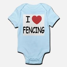I heart fencing Infant Bodysuit