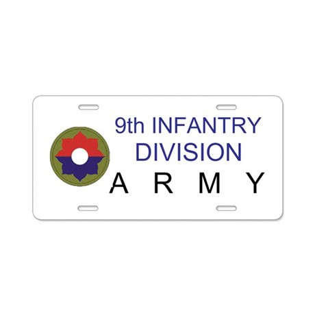 9th INFANTRY DIVISION Aluminum License Plate