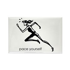 pace yourself Rectangle Magnet (10 pack)