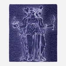 Noctiluent Hekate Throw Blanket
