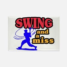 Swing & Miss Rectangle Magnet