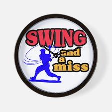 Swing & Miss Wall Clock