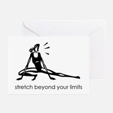 stretch beyond your limits Greeting Cards (Package