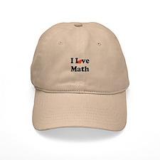 I Love Math (heart) Baseball Cap