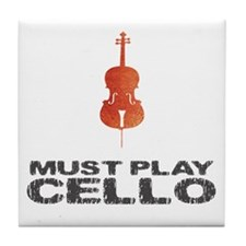 Must Play Cello Tile Coaster