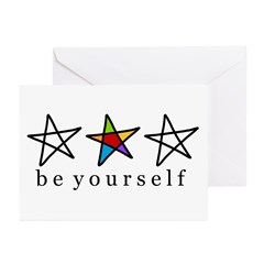 be Yourself (stars) Greeting Cards (Pk of 10)