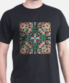 mexican embroidery floral bohemian T-Shirt