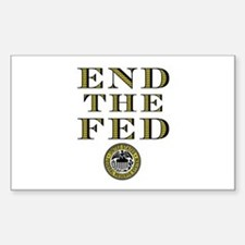 End the Fed Occupy Wall Street Protests Decal