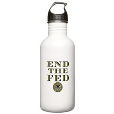 End the Fed Occupy Wall Street Protests Water Bottle