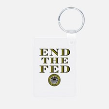 End the Fed Occupy Wall Street Protests Keychains