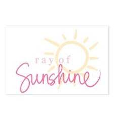 Ray of Sunshine (pink) Postcards (Package of 8)