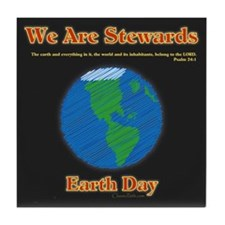 Earth Day Stewards Tile Coaster
