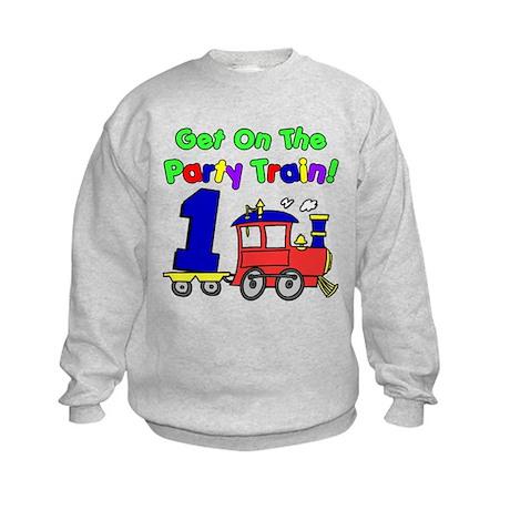 Party Train One Year Old Kids Sweatshirt
