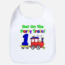 Party Train One Year Old Bib