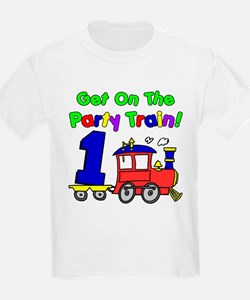 Party Train One Year Old T-Shirt