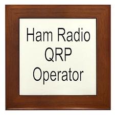 Ham Radio QRP Operator Framed Tile