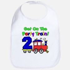 Party Train Two Year Old Bib