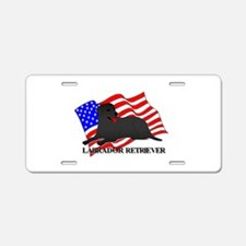 Labrador Retriever USA Aluminum License Plate