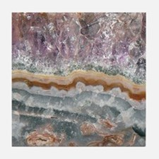 Amethyst Crystals Tile Coaster