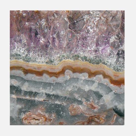 Amethyst Crystals Tile Coaster