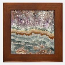 Amethyst Crystals Framed Tile