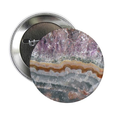 """Amethyst Crystals 2.25"""" Button (10 pack)"""