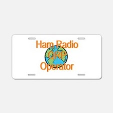 Ham Radio QRP Operator Aluminum License Plate