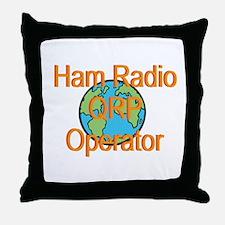 Ham Radio QRP Operator Throw Pillow