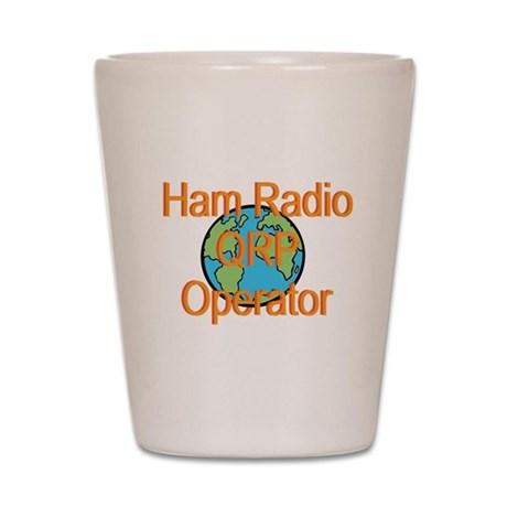 Ham Radio QRP Operator Shot Glass