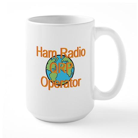 Ham Radio QRP Operator Large Mug