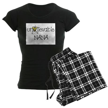 Unbelievable Nana Women's Dark Pajamas