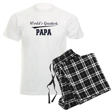 World's Greatest Papa Men's Light Pajamas