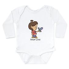 Flower Child Long Sleeve Infant Bodysuit