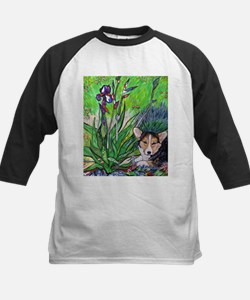 A corgi rests in Spring Tee